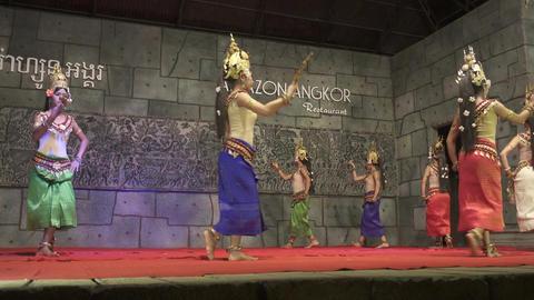 Khmer classical dancers Apsara Dance Cambodia Footage