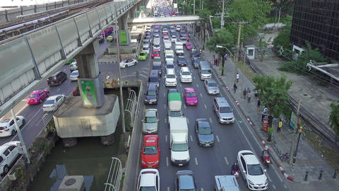 Traffic jam on the streets of Bangkok Footage