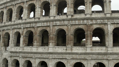 Coliseum amphitheater, facade of great antique building, sightseeing, tourism Footage