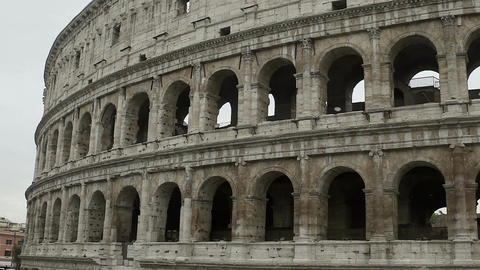 Coliseum, ancient amphitheater in heart of Italy, world famous attraction Footage