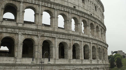 Colosseum amphitheater, Italian cultural heritage, famous antique attraction Footage