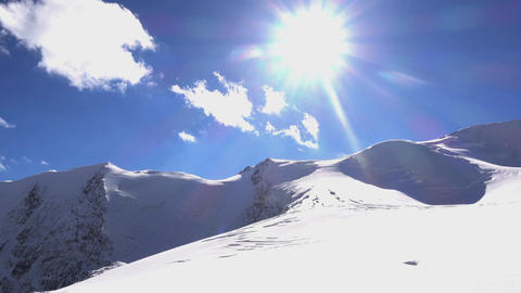 Picturesque Landscape Of Snowy Altai Mountains Footage