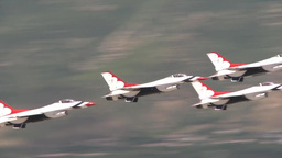 Warriors over the Wasatch air show Stock Video Footage