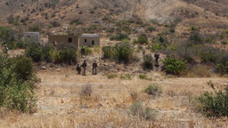 Marines Soldiers Attack Building During 4th Tank Battalion Annual Training stock footage