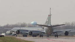 127th Wing KC-135 stratotanker taxing Footage