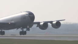 127th Wing KC-135 stratotanker landing Footage