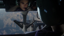 F-16C Fighting Falcon Getting Fuel From KC-15 Stratotanker Over Afghanistan Footage