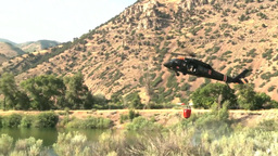 UH-60 Blackhawk helicopter firefighting operations Footage