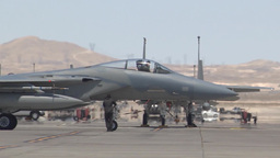 F-15C Eagle taxis out for takeoff during Red Flag Footage