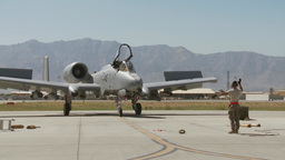 A-10 Thunderbolt ll flight operations at Bagram Airfield, Afghanistan Footage