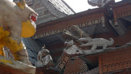 Detail Of Temple With Smoke,Kalpa,Kinnaur,India stock footage