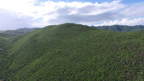 Aerial view of Luscious hill Footage