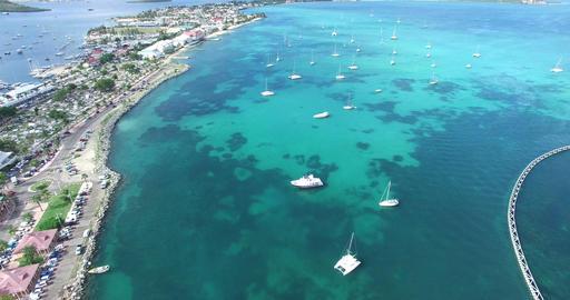 Caribbean island of saint martin Footage