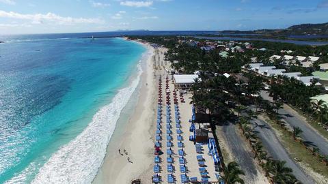 caribbean beach aerial drone view Footage