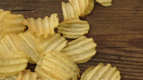 Rippled potato chips Live Action