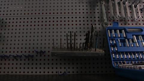 Set of drills for mechanic work Filmmaterial