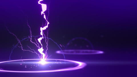SHA Lightning BG Image Violet Animation