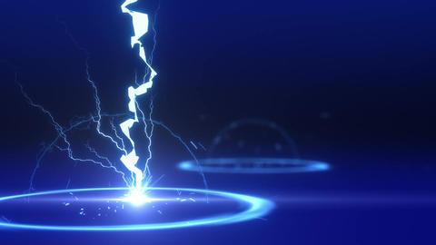 SHA Lightning BG Image Blue CG動画