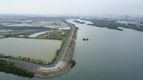 DJI MAVIC 4K Taiwan Tainan Aerial Drone Video Anping Sicao Bridge 20170324 cut(1 Footage