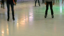 Ice skating rink Footage