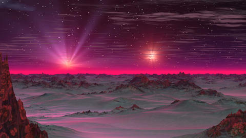 Two Stars in the Sky Alien Planet Animation