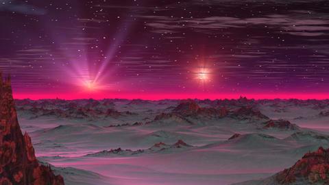 Two Stars in the Sky Alien Planet