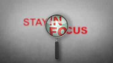 Stay In Focus - Magnifying Glass/Lens Logo Stinger After Effects Project