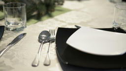 elegant dishes on a table Footage
