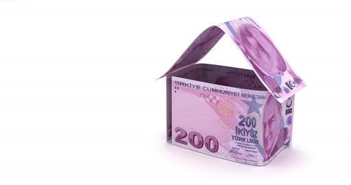 Real Estate with Turkish Lira Animation