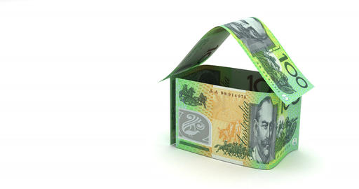 Real Estate with Australian Dollars Animation