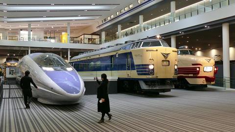 Japanese People Visiting Kyoto Railway Museum In Japan Asia Footage