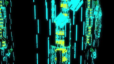 Techno Space 4K 04 Vj Loop Animation