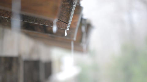 Water Drips from Roof Footage