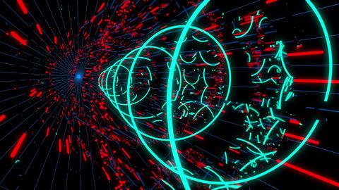 Techno Space 4K 02 Vj Loop Animation