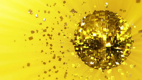 Abstract looped animated background: pulsating and spinning glow disco ball comp Animation