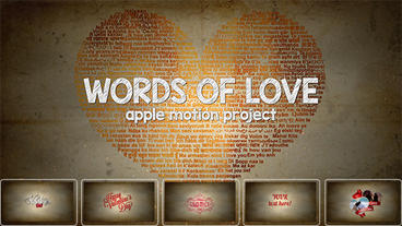 Words of love Apple Motion Template