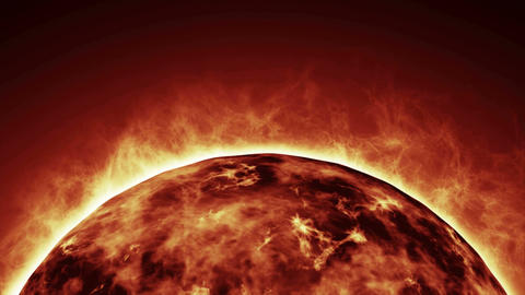 Sun, close-up view from space Animation