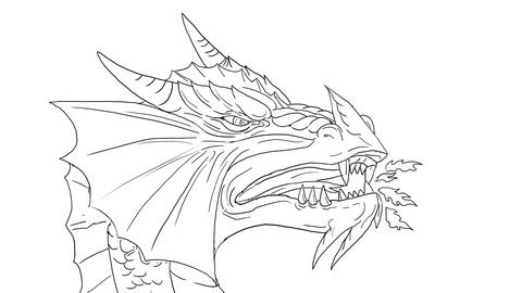 Dragon Breathing Fire 2D Animation Animation