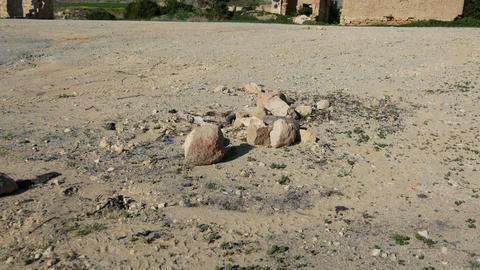 Ruins of Agios Sozomenos Nicosia district. Cyprus Footage