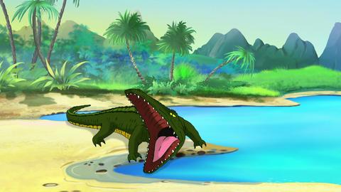 Big Crocodile Open Mouth Animation