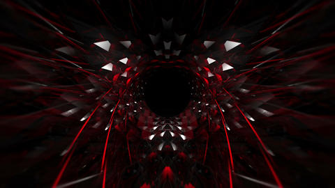 Black Glass Red Tunnel 60fps VJLoop LIMEART Live Action
