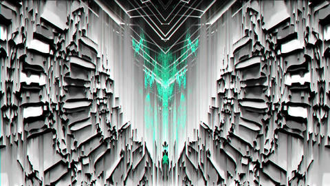 Cyan Glitch Light VJ Loop LIMEART Live Action