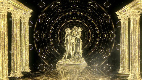 Gold Matrix Statue LIMEART Footage