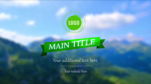 Classic logo reveal, nature background After Effects Template