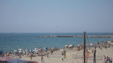 Active Sporty Summer Beach Footage