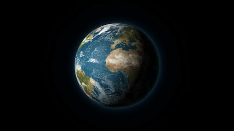 Realistic Earth rotating on a black background Animation