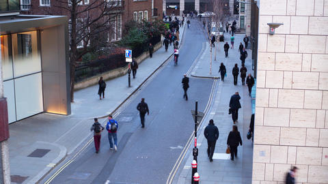 Commuters at rush hour Footage