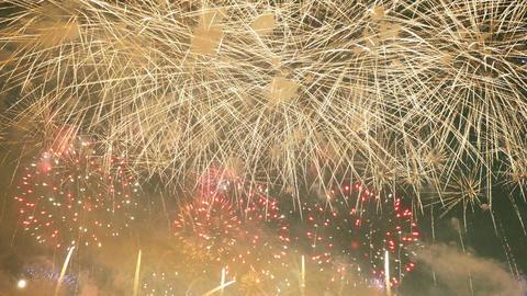 Video of wonderful fireworks in 4K Footage