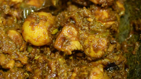 Chicken curry stock footage, kolkata - 4 Footage