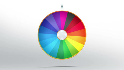 Lucky wheel fortune eighteen 4K CG動画素材